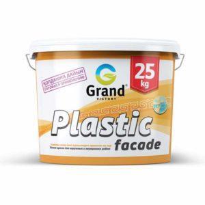 Краска водоэмульсионная  фасадная для наружных работ Plastic facade 25кг