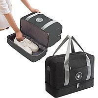 Водоотталкивающая сумка для путешествий трансформер непромокаемая черная