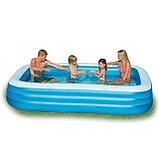 Семейный надувной бассейн прямоугольный 305х183х56см, фото 2