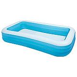 Семейный надувной бассейн прямоугольный 305х183х56см, фото 3