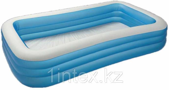 Семейный надувной бассейн прямоугольный 305х183х56см