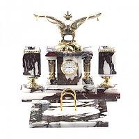 """Письменный набор из натурального камня мрамор и бронзы """"Двуглавый орел"""""""