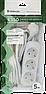 Удлинитель, DEFENDER, с заземлением E350 5.0 м, 3 розетки, фото 2