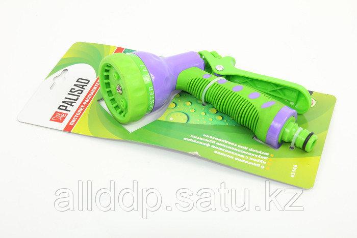 Пистолет распылитель 6 режимов полива, регулятор курка, прорезиненная ручка PALISAD LUXE 65146 (002)