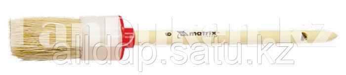 Кисть круглая № 2 с натуральной щетиной (2 см) деревянная ручка MATRIX 82072 (002)