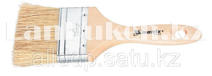 """Кисть плоская """"Евро"""" с деревянной ручкой 1"""" MATRIX 83051 (002)"""