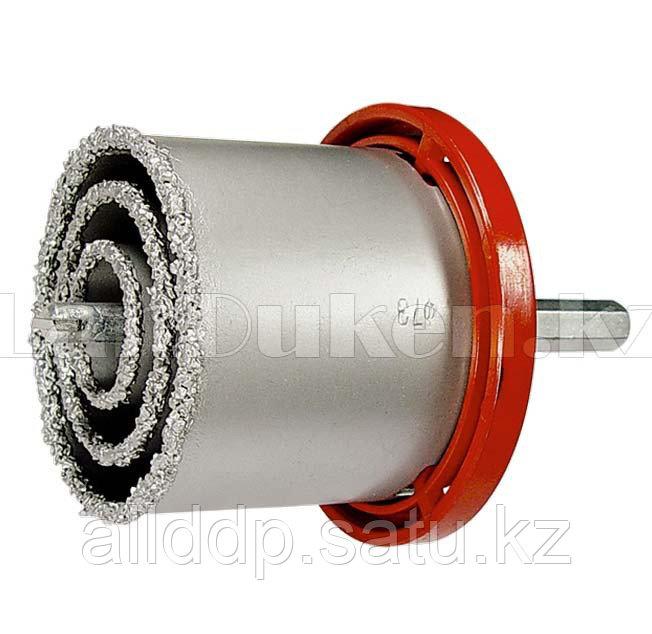 Набор коронок по керамич. плитке, 33-53-67-73-83 мм + напил., в пласт.боксе, 6-гран.хвост. 72842 (002)