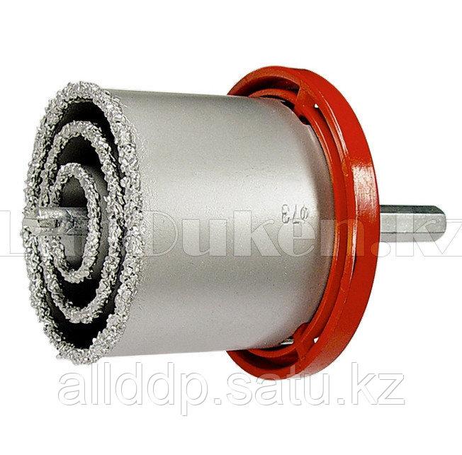 Набор коронок по керамической плитке, 33-53-67-73 мм, 6-гранный хвостовик 72840 (002)