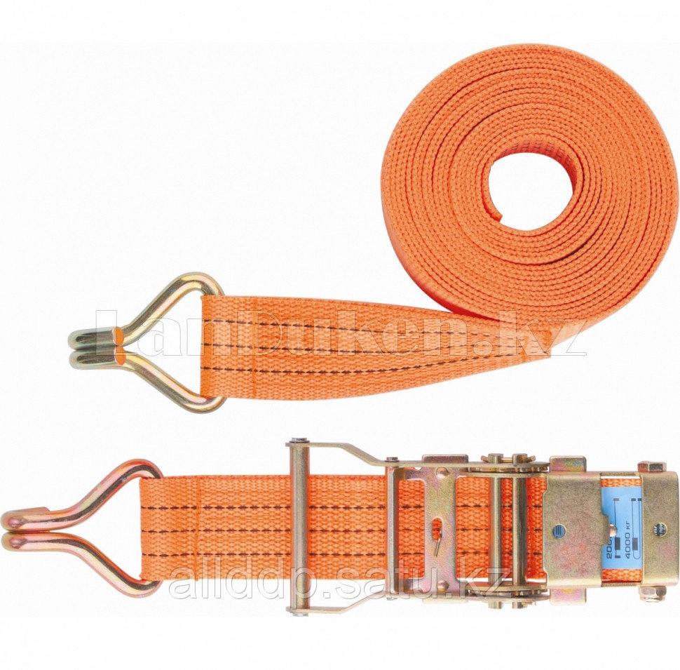 Ремень багажный с крюками, 0,05х10м, храповый механизм, Россия 54387 (002)