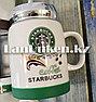 Чашки-кружки керамические с принтом Starbucks CUP для кофе и чая 350 мл зеленый, фото 2