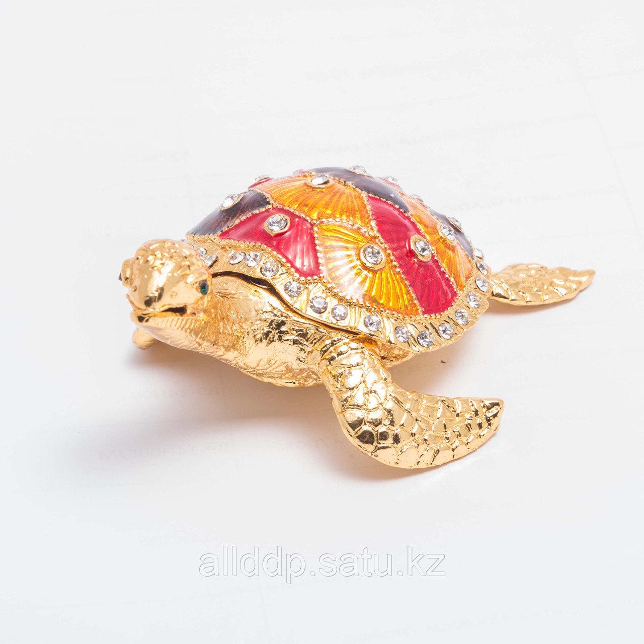 """Сувенир-шкатулка """"Черепашка с цветным панцирем"""" 8*2,5 см"""