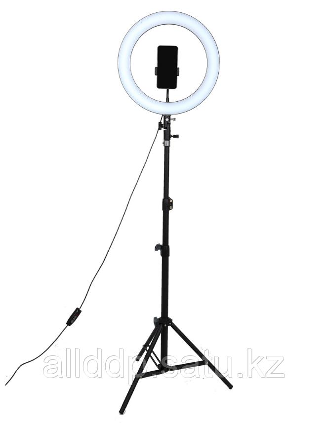 Селфи лампа, кольцевая на подставке с зажимом для телефона, 30 см