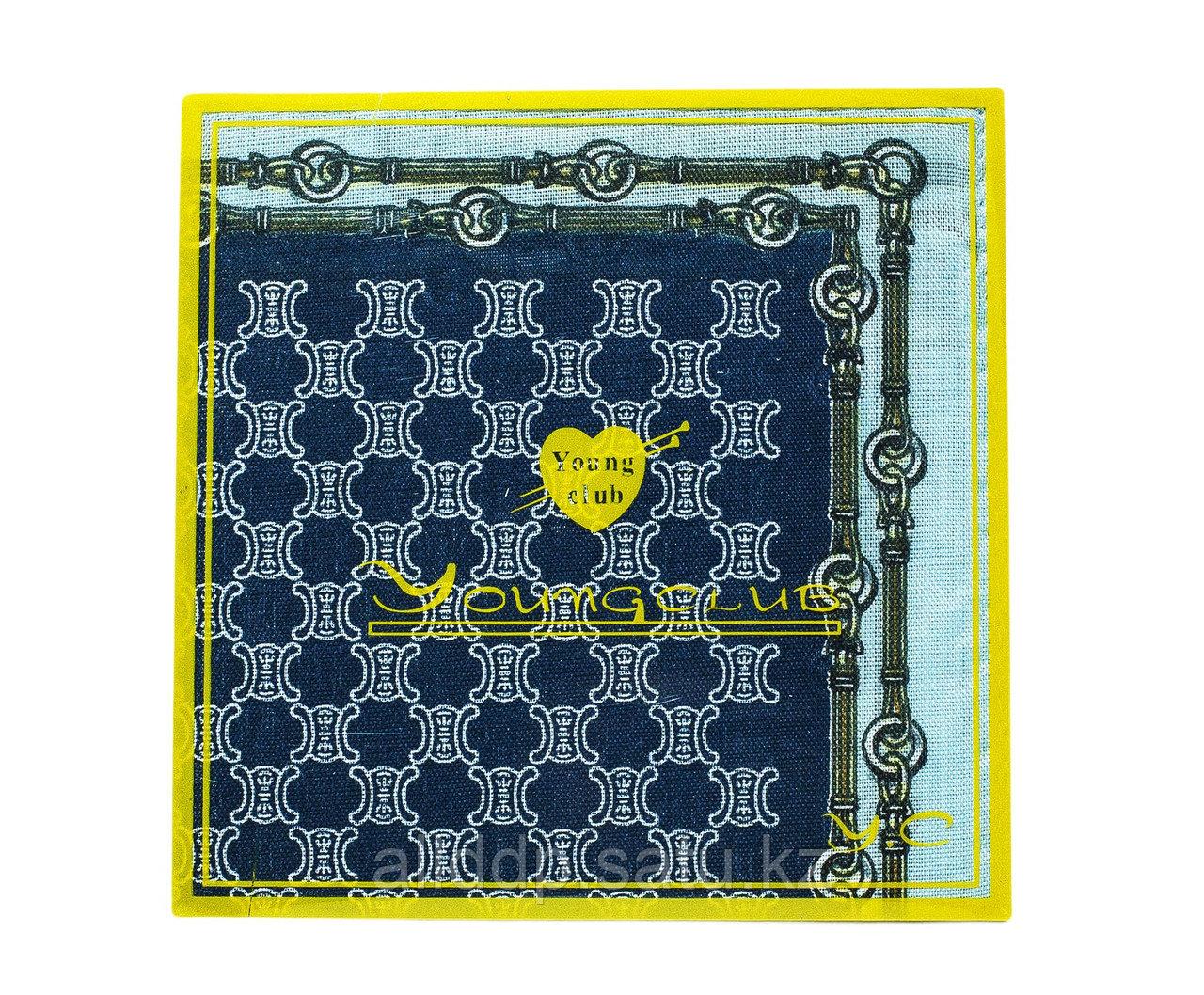 Платок носовой в упаковке (тёмно-синий), 12 см