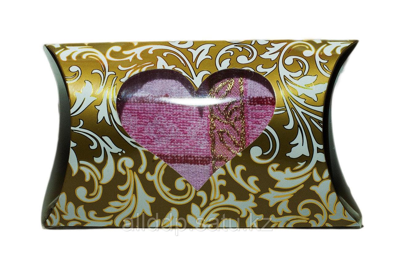 Полотенце в подарочной упаковке (розовое), 20 см