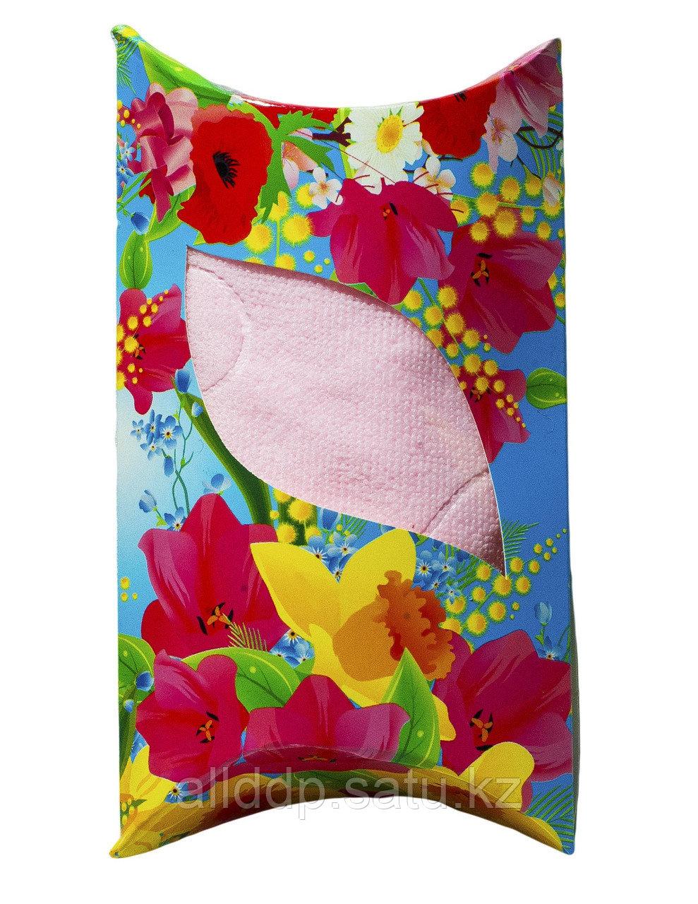Полотенце в подарочной упаковке (розовое), 48 см