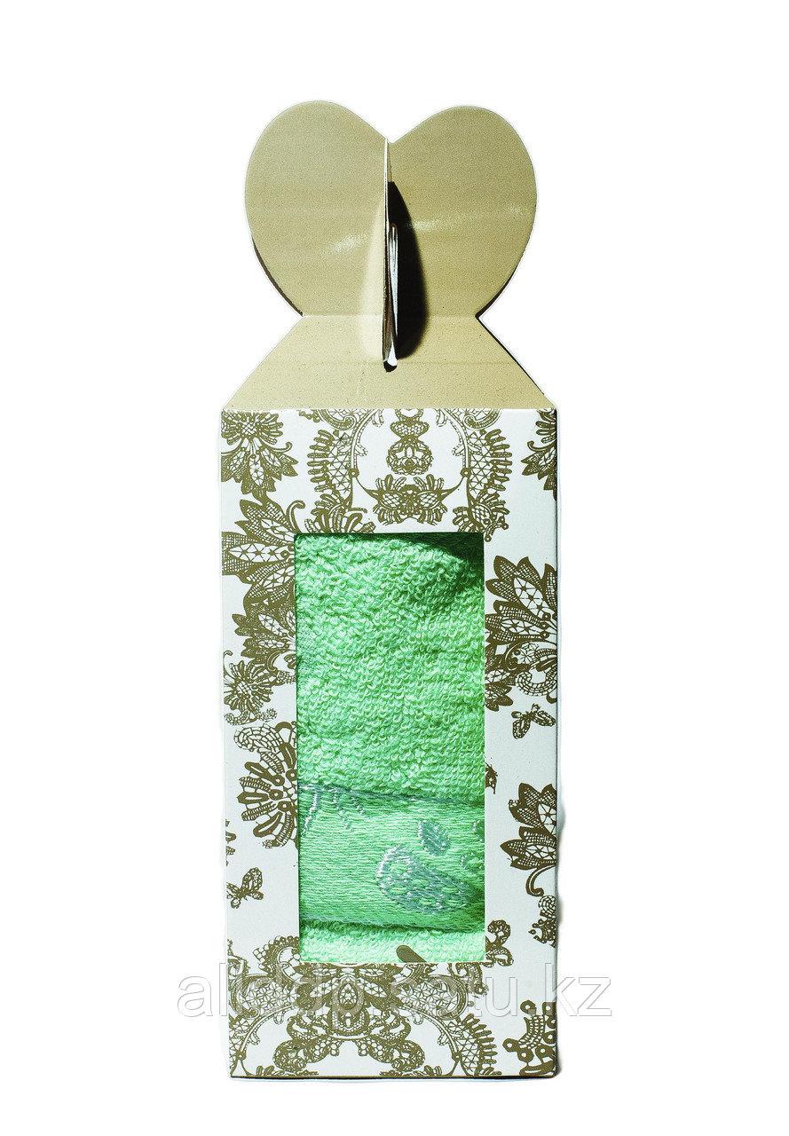 Полотенце в подарочной упаковке (светло-зелёное), 70*30 см