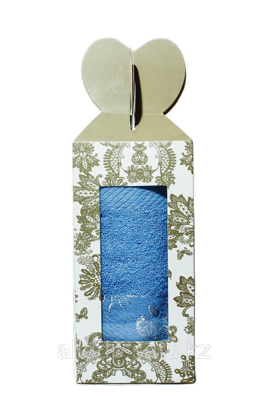 Полотенце в подарочной упаковке (голубое), 70*30 см