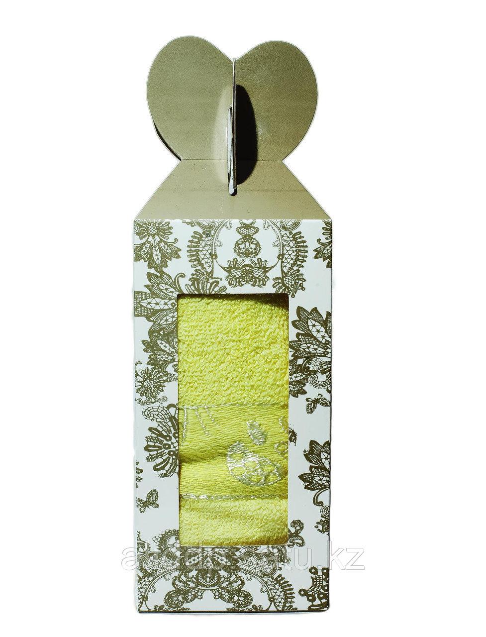 Полотенце в подарочной упаковке (жёлтое), 70*30 см