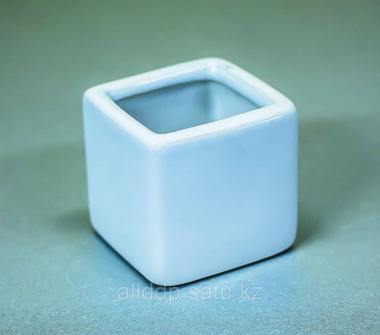 "Чаша декоративная ""Квадратная"" (керамика, белая),5х5см"