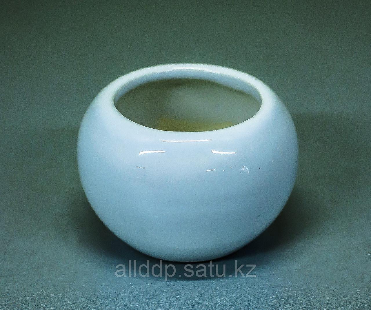 "Чаша декоративная ""Круглая"" (керамика, белая),5см"
