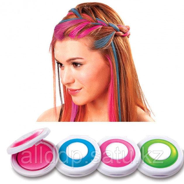 Цветные мелки для волос Hot Huez (Хот Хьюз) 4 цвета цветная пудра для покраски волос