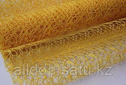 Сетка ажурная, листовая, 50*70 см, желтая