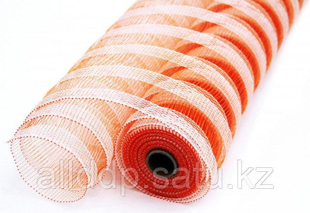 Сетка рулонная, крупная, оранжевая
