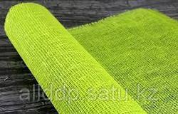 Сетка рулонная, джут, зеленая