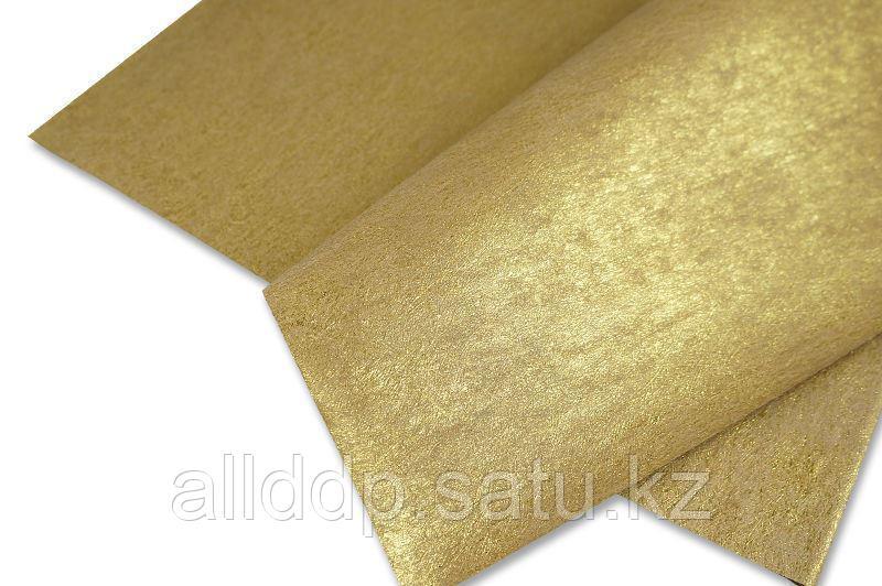Упаковочная бумага, двусторонний блеск, золотая