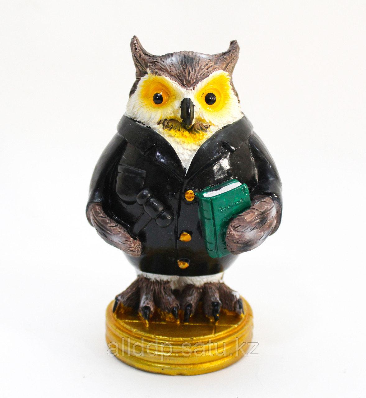 """Статуэтка сова """"Мудрая"""", черная, (13 см)"""