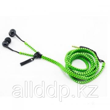 Наушники на молнии Zipper, зеленые