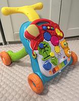 Развивающий центр Happy Baby SPRINTER, каталка-ходунки, бизиборд, столик
