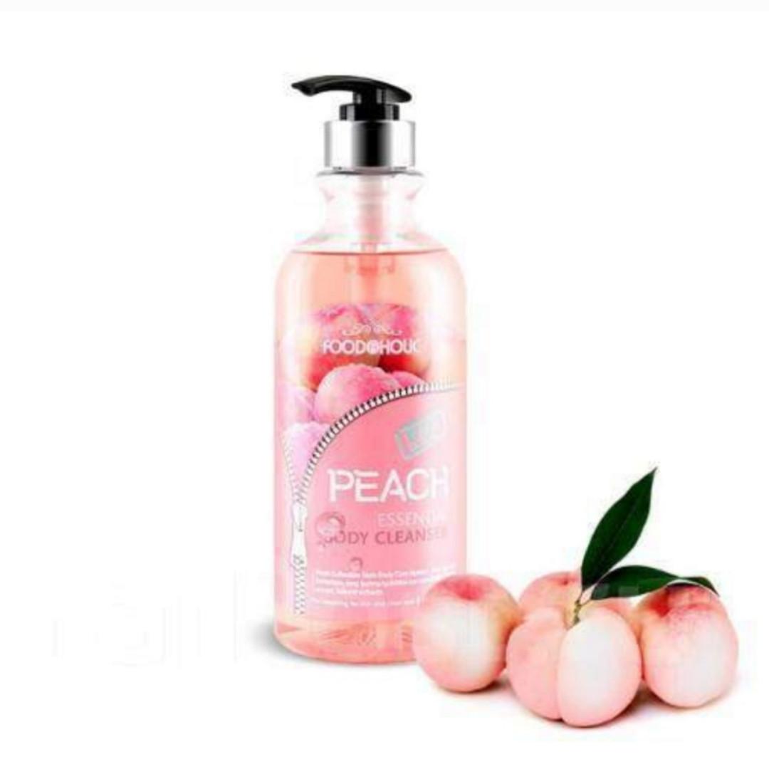 Гель для душа с экстрактом персика FOODaHolic Peach Essential Body Cleanser 750 ml.