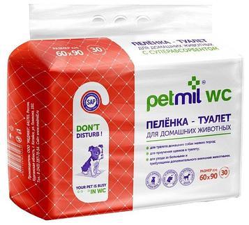 Пеленки для собак впитывающие Petmil WC 60*90 см