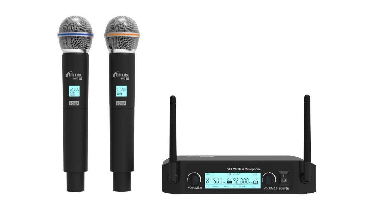 Микрофонная беспроводная система Ritmix RWM-222