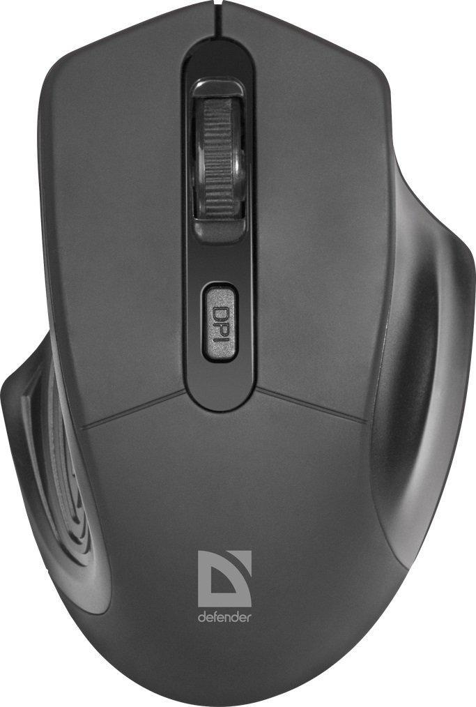 Мышь беспроводная Defender Datum MB-345 черный