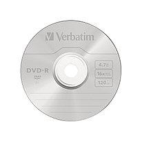 Диск DVD-R  Verbatim  (43547) 4.7GB  16х  1шт в упаковке
