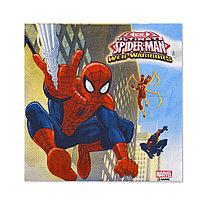 Салфетка праздничная  ВЕСЁЛАЯ ЗАТЕЯ  1502-4679  Spider-Man  (20 шт. в пакете)