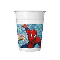 Стакан праздничный ВЕСЁЛАЯ ЗАТЕЯ 1502-4680 Spider-Man Объем 200 мл. (8 шт. в пакете) Бумажный Розовый