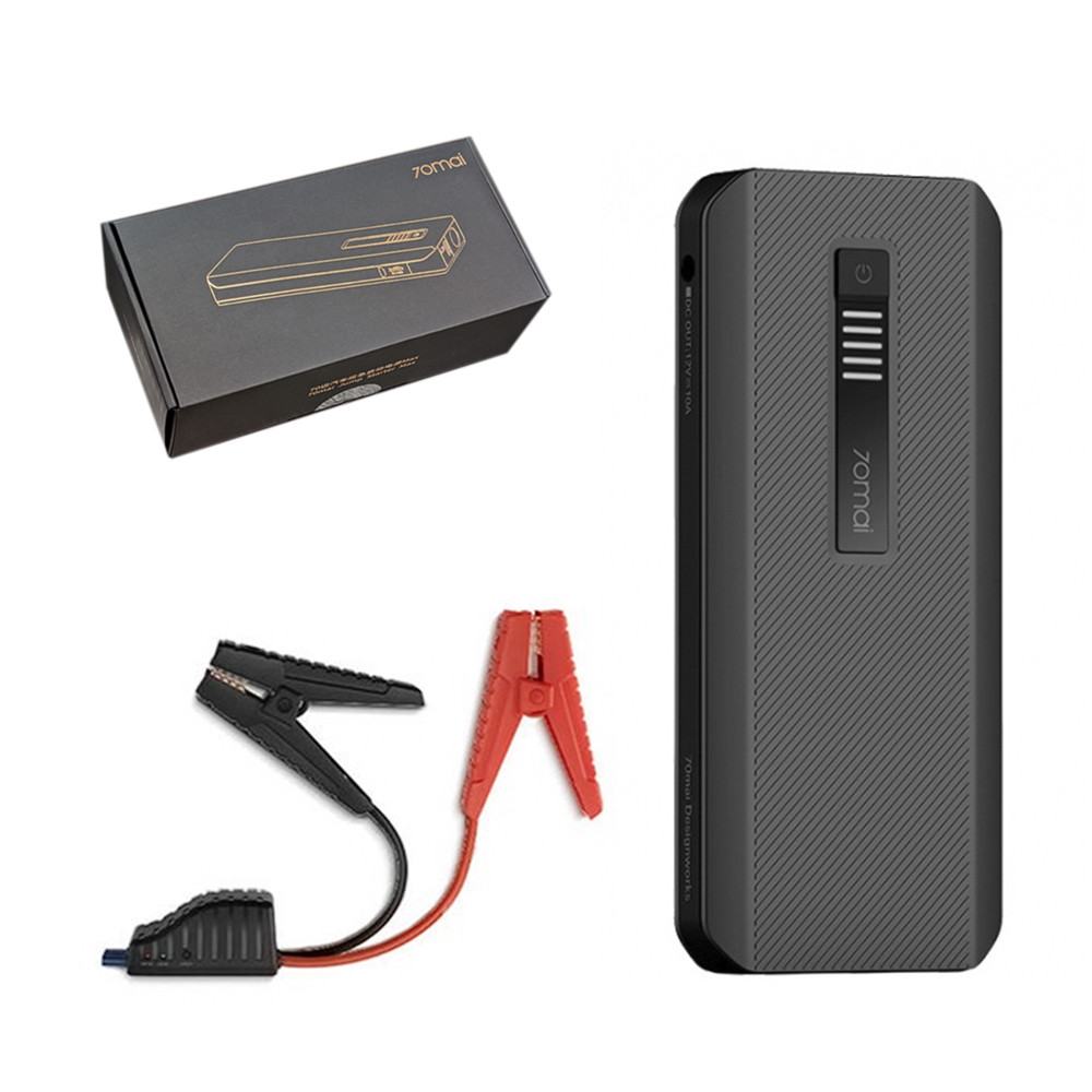 Портативное пуско зарядное устройство Xiaomi 70mai Jump Starter 18000mAh 1000A Midrive PS06, Black