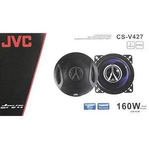 """Колонки автомобильные коаксиальные JVC [Hybrid Surround + Carbon Mica Cone] (CS-V427 (10см, 4"""", 2-way, 160W))"""