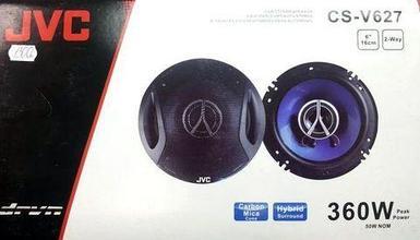 """Колонки автомобильные коаксиальные JVC [Hybrid Surround + Carbon Mica Cone] (CS-V627 (16см, 6"""", 2-way, 360W))"""