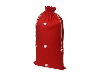 Мешок подарочный с помпонами