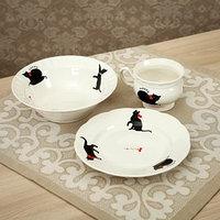 Набор посуды 'Киски', 3 предмета кружка 220 мл, салатник 500 мл, тарелка