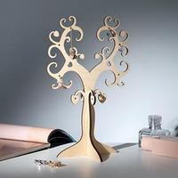 Подставка для украшений 'Дерево сердечко' 25*7, толщина 4мм, цвет бежевый
