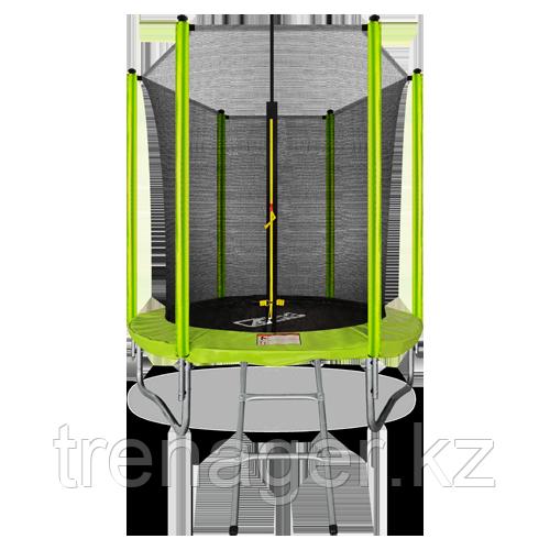 Батут ARLAND 6 ft inside с внутренней страховочной сеткой и лестницей (Light green)