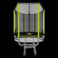 Батут ARLAND 6 ft outside с внешней страховочной сеткой и лестницей (Light green)