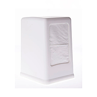 Диспенсер для салфеток настольный MAXI, пластик классический белый, вместимость 200л