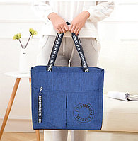 Водоотталкивающая сумка для путешествий непромокаемая H.K.Storage синяя
