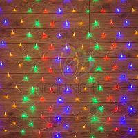 """Световая гирлянда """"Сеть"""" - 1х1,5 метра, 96 лампочек, разноцветная, мерцающая"""